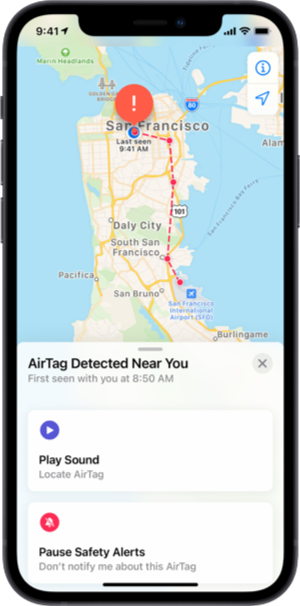 You'll be alerted if an AirTag is detected nearby