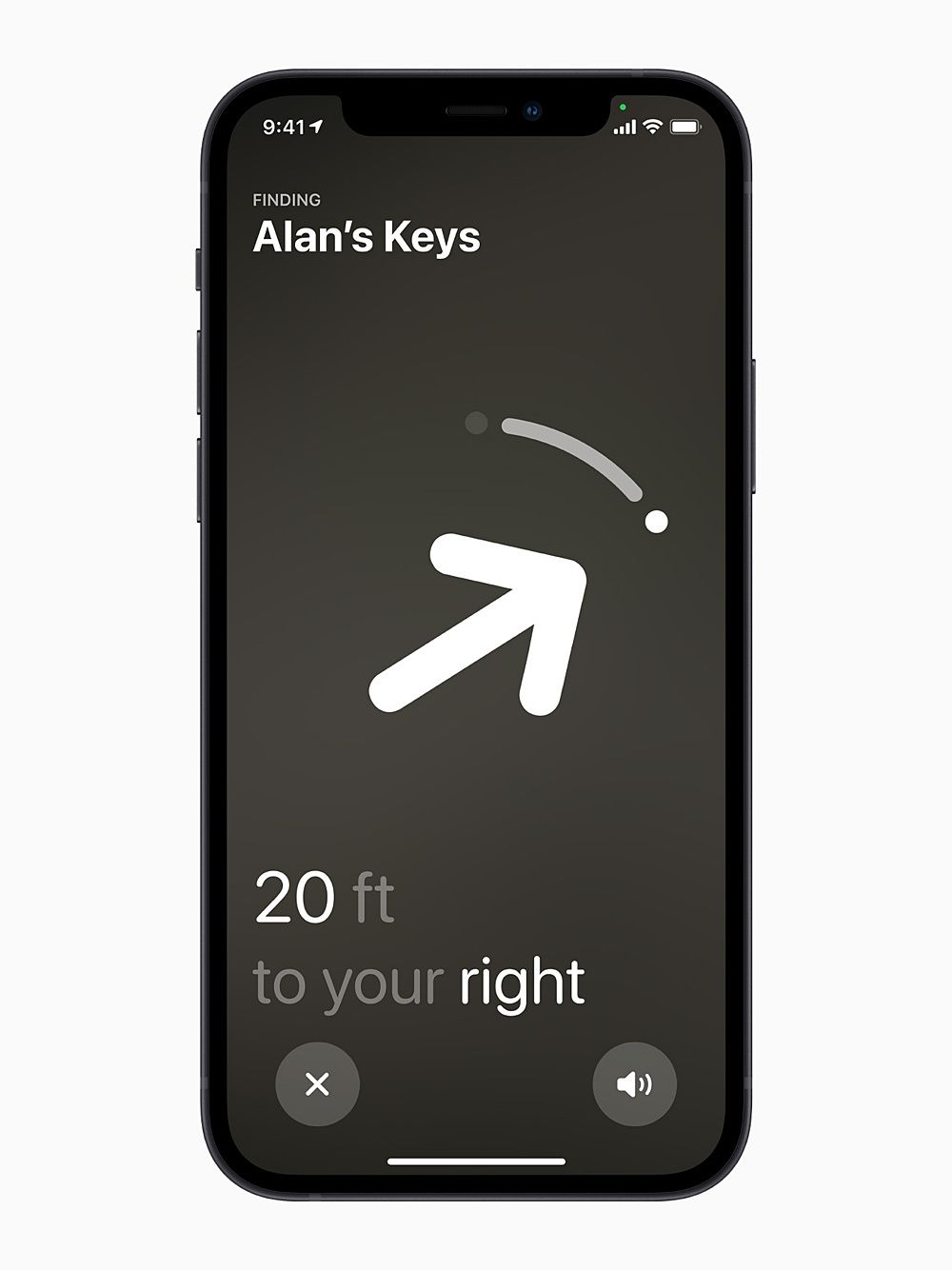 AirTag direction in the Find My app