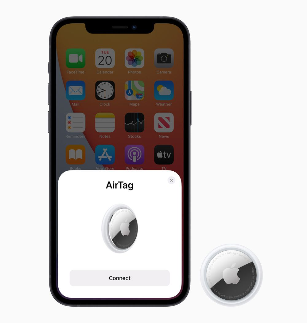 Hold the AirTag next to your iPhone to connect