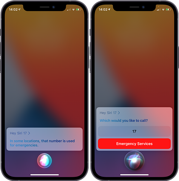 Siri now checks if you want to call an emergency number