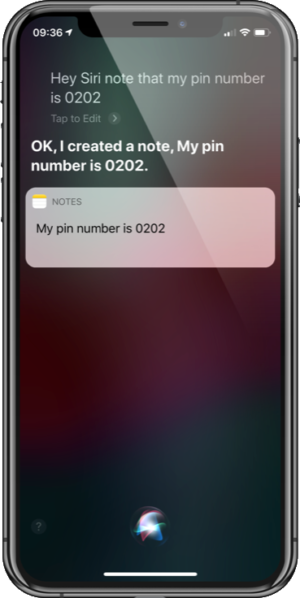Pin Number Note