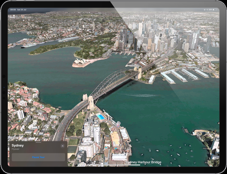iPad Maps Flyover