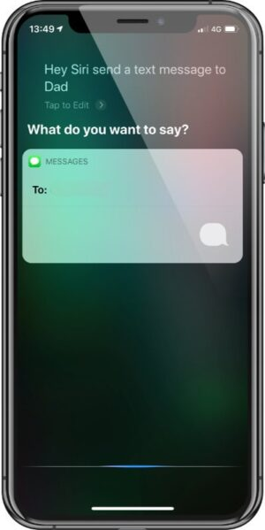 Ask Siri - Message
